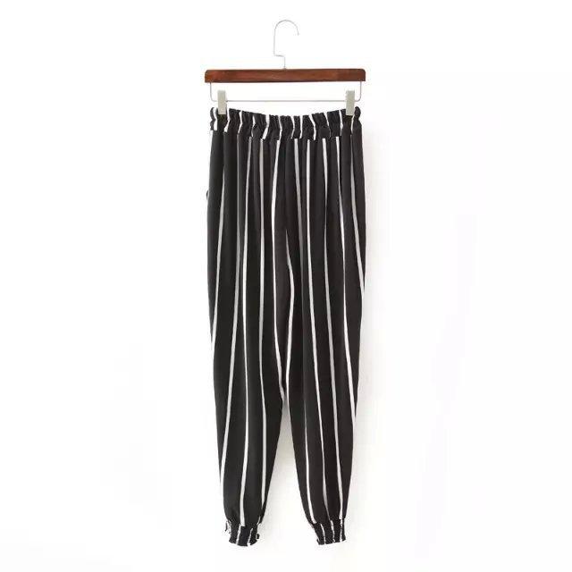 XL43 Fashion Women Elegant Stripe Elastic Waist Tunic ...