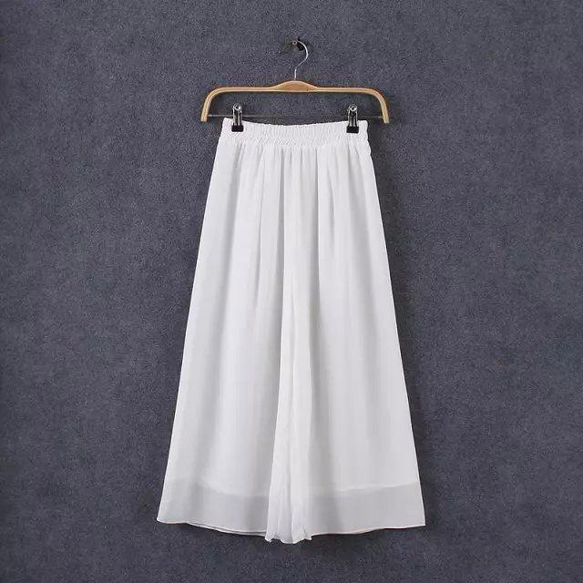 QI34 Fashion Women Elegant Chiffon Elastic Waist Tunic ...