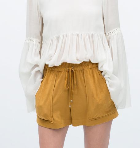 HY26 Fashion Summer Women Suede Leather Elastic Waist ...