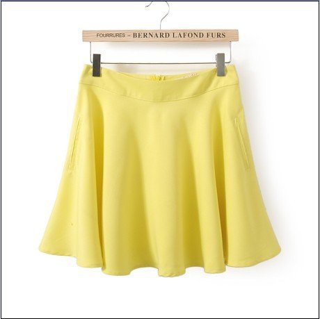 KG07 Summer Fashion Women Elegant pleated Skirts vintage Zipper casual brand designer skirt
