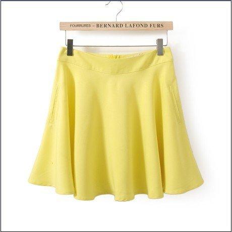 KG07 Summer Fashion Women Elegant pleated Skirts vintage Zipper casual brand designer skirt