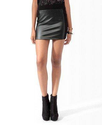 04XZ01 New Fashion womens' Sexy Mini faux leather spliced Skirt elegant OL style elastic waist casual slim skirt brand design