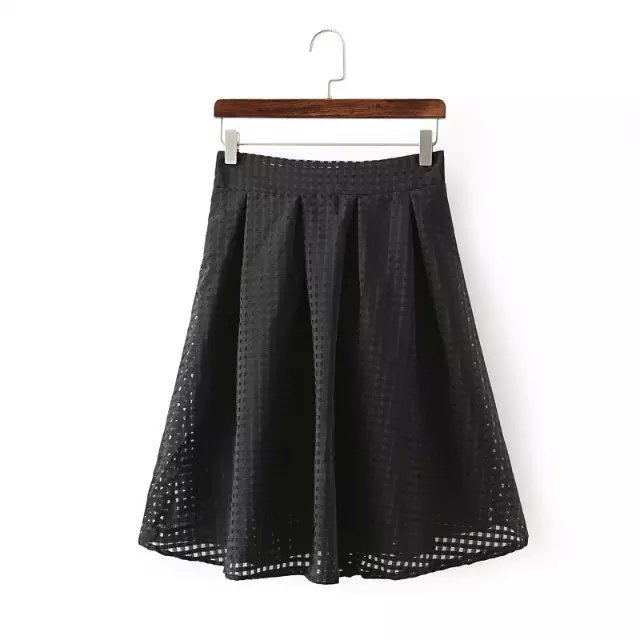 XL01 Fashion Summer Women Elegant pleated Organza Elastic Waist Skirt casual brand designer skirts