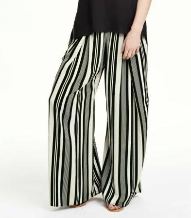XIC21 Fashion Women Elegant Striped Stretch trousers Elastic Waist Tunic Pants Casual Brand Pants