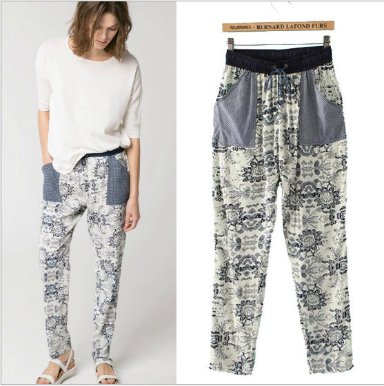 03A425 New summer Fashion Ladies' elegant print pants ...