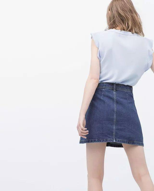Xc02 Fashion Summer Female Pocket Denim Buttons Jeans Skirts For Women Empire Casual Brand Pencil Skirt Jupe Saias
