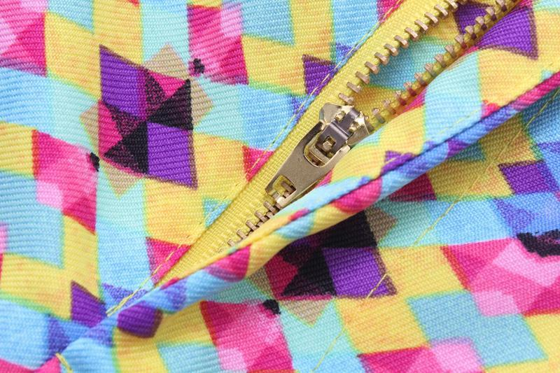 03QI02 Fashion women's Elegant geometric pattern suit pants harem pants pockets slim trousers brand designer pants
