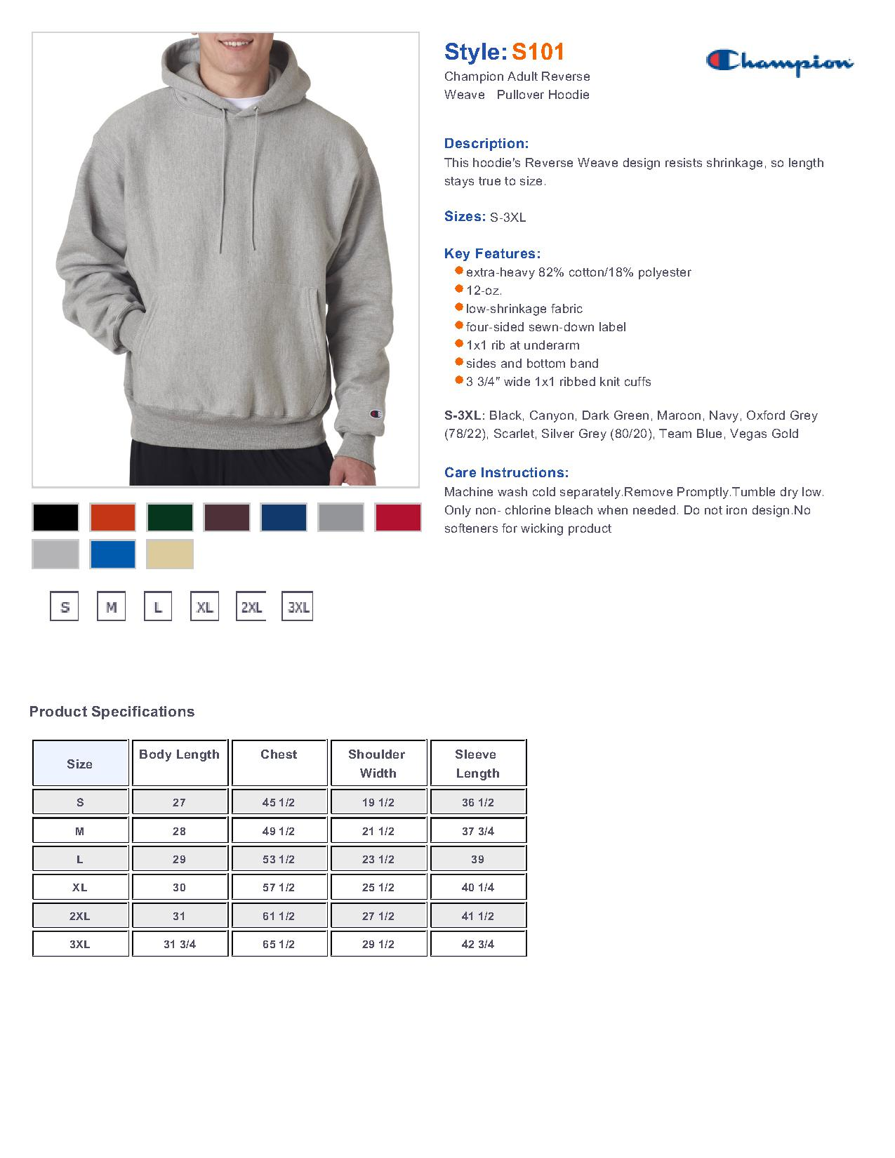 Champion S101 Reverse Weave Hooded Sweatshirt $38.80 - Sweater