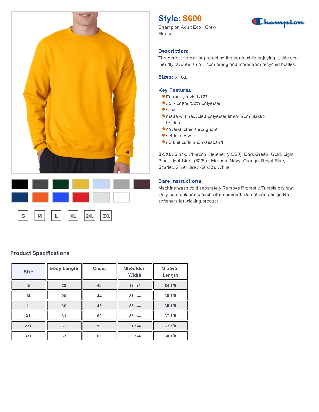 75ca3a683ed4 Champion S600 - Double Dry Eco Crewneck Sweatshirt  11.68 - Women s ...