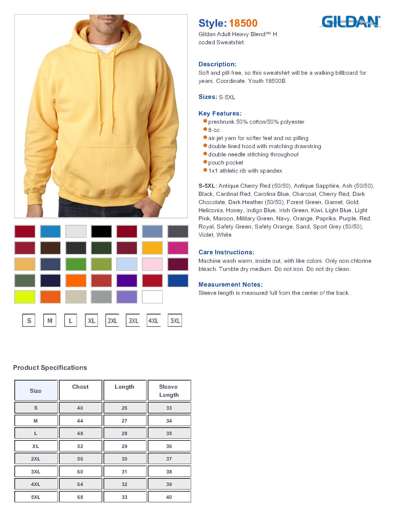 Hoodies loving memory store for Gildan brand t shirt size chart