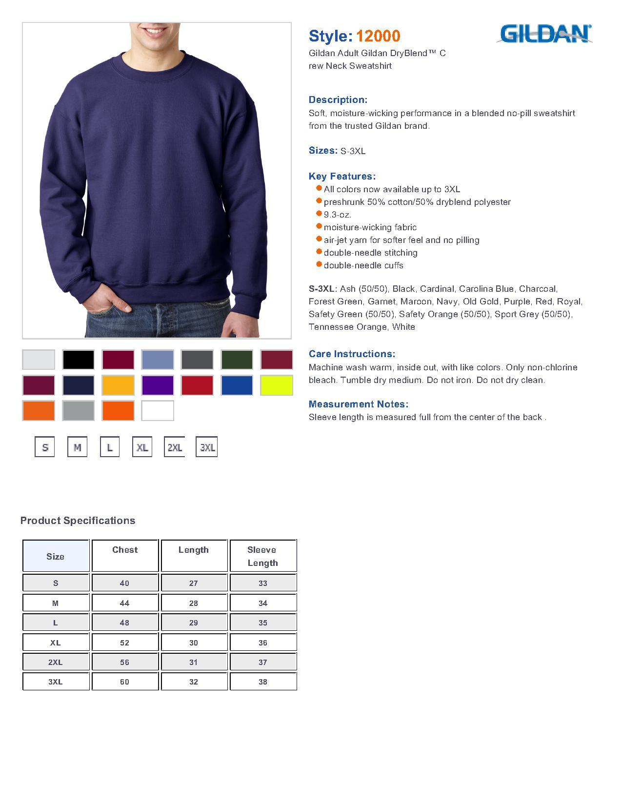 Gildan Polo Shirt Color Chart