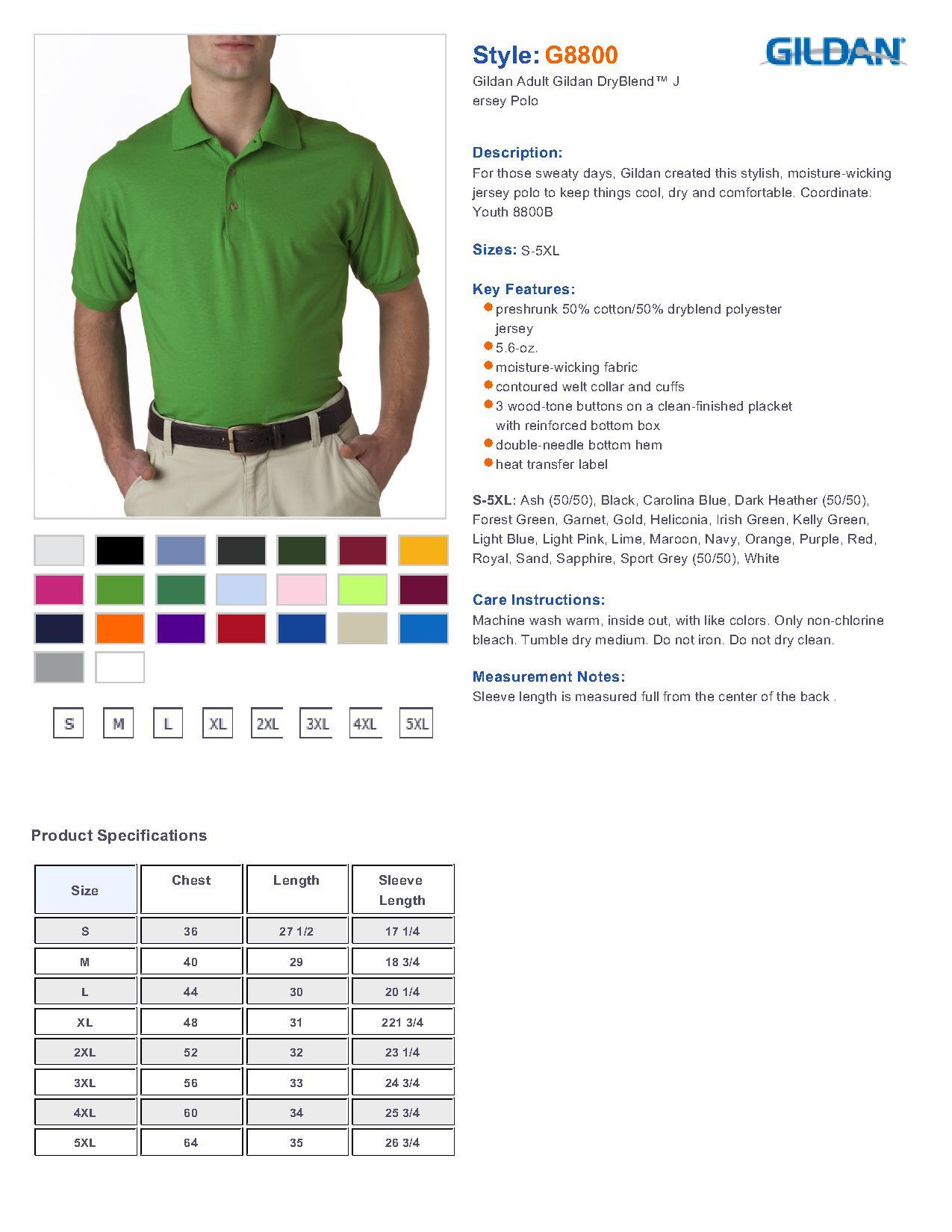 Gildan 8800 5 6 oz ultra blend jersey sport shirt 5 41 men s
