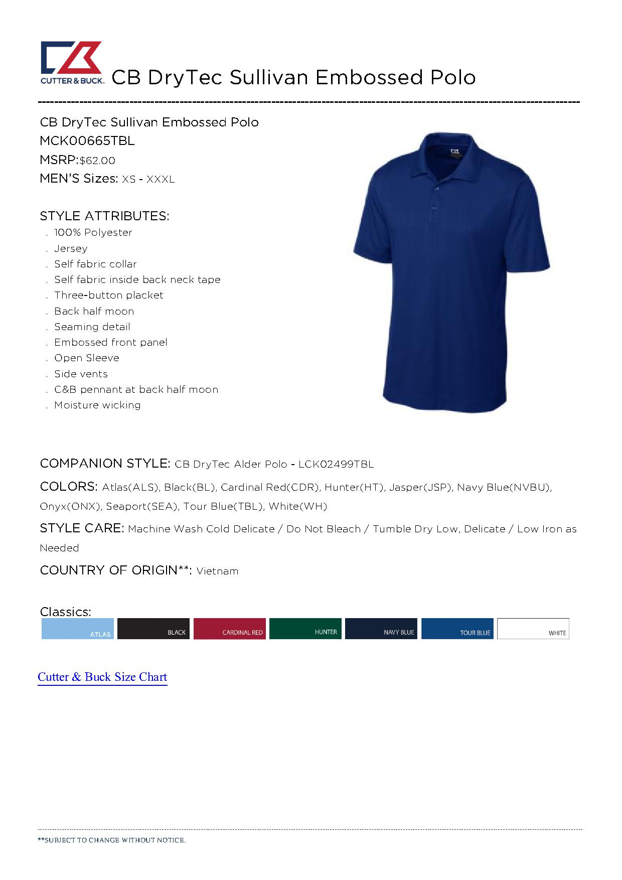 Screen printing price chart for Cutter buck polo shirt size chart