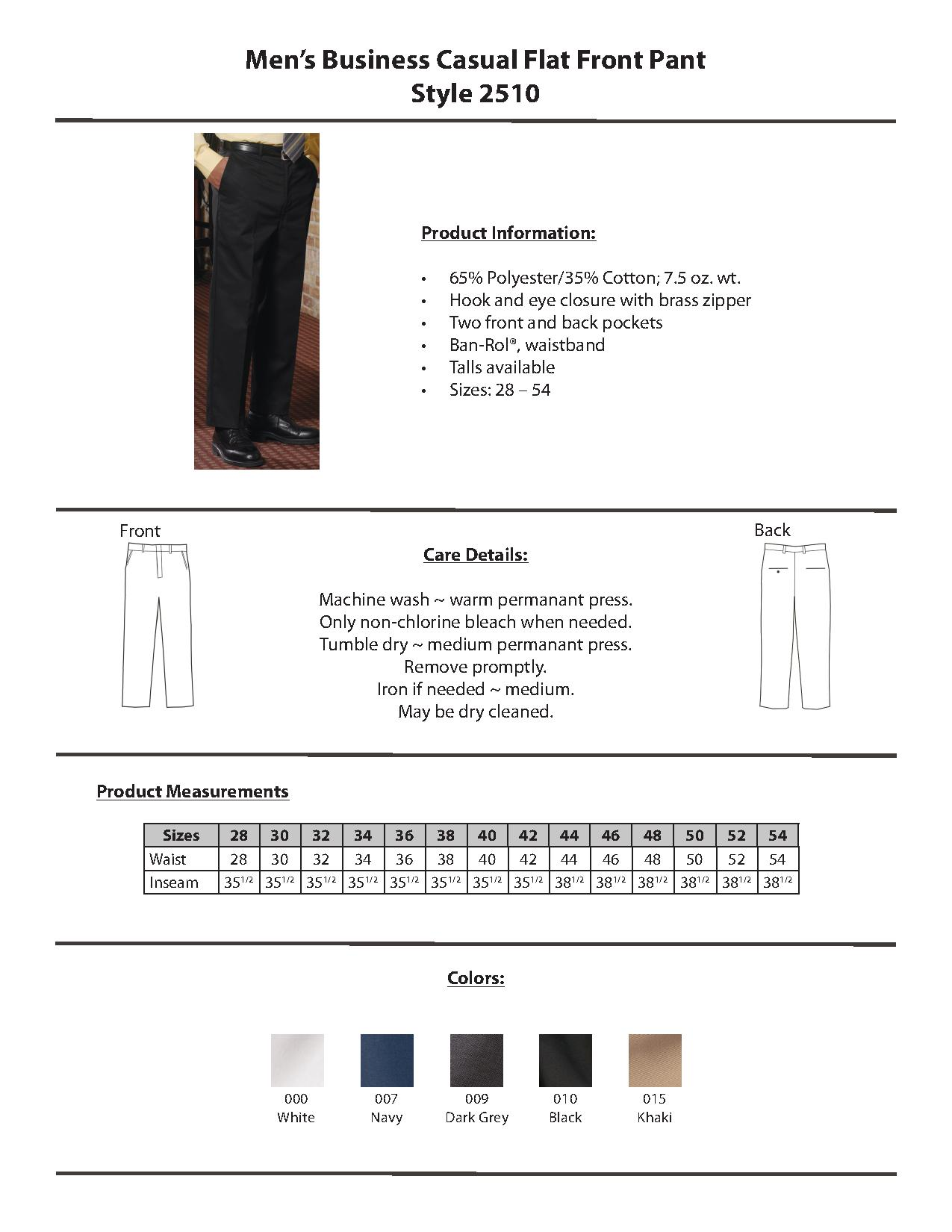 034e725f97f Edwards Garment 2510 - Men s Business Casual Flat Front Pant  29.60 ...