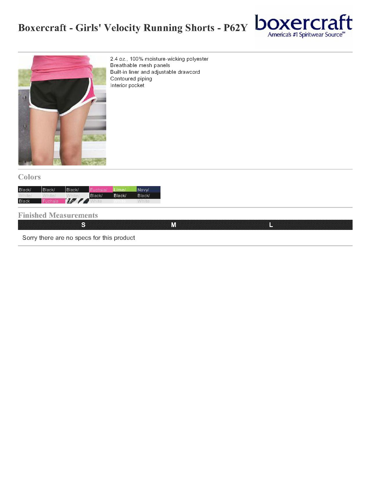 d0f39072e23 Boxercraft Girls  Velocity Running Shorts - P62Y  11.00 - Women s Shorts
