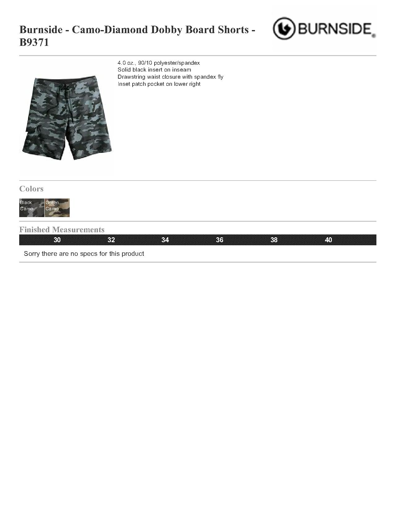 f9f59f2f2b Burnside Camo-Diamond Dobby Board Shorts - B9371 $19.44 - Men's Shorts