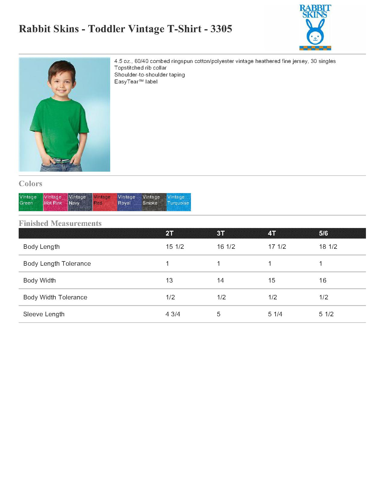 865e92891 Rabbit Skins Toddler Vintage T-Shirt - 3305 $3.37 - Infant & Toddler