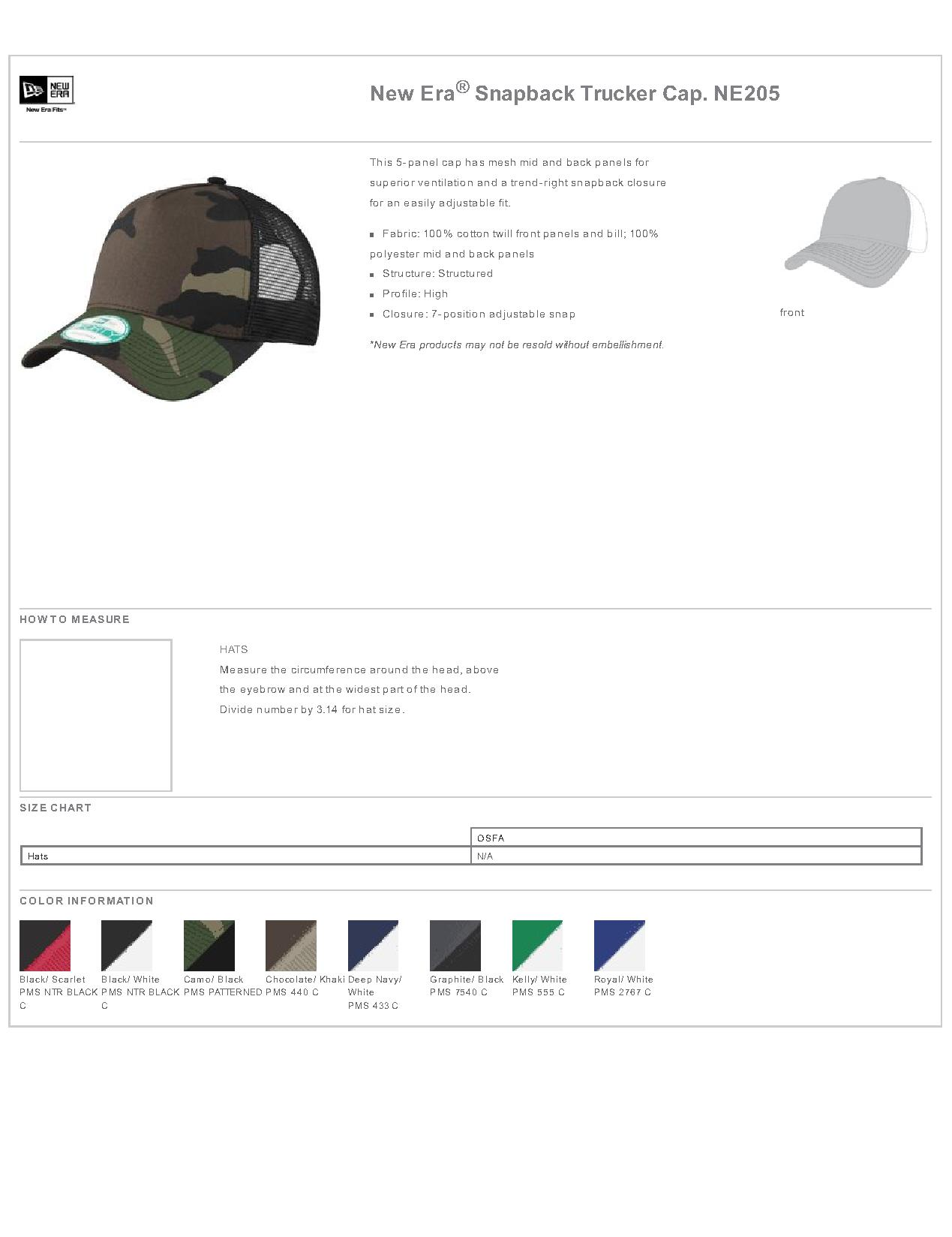 ac37b81d1ce New Era® NE205 - Snapback Trucker Cap - Headwear