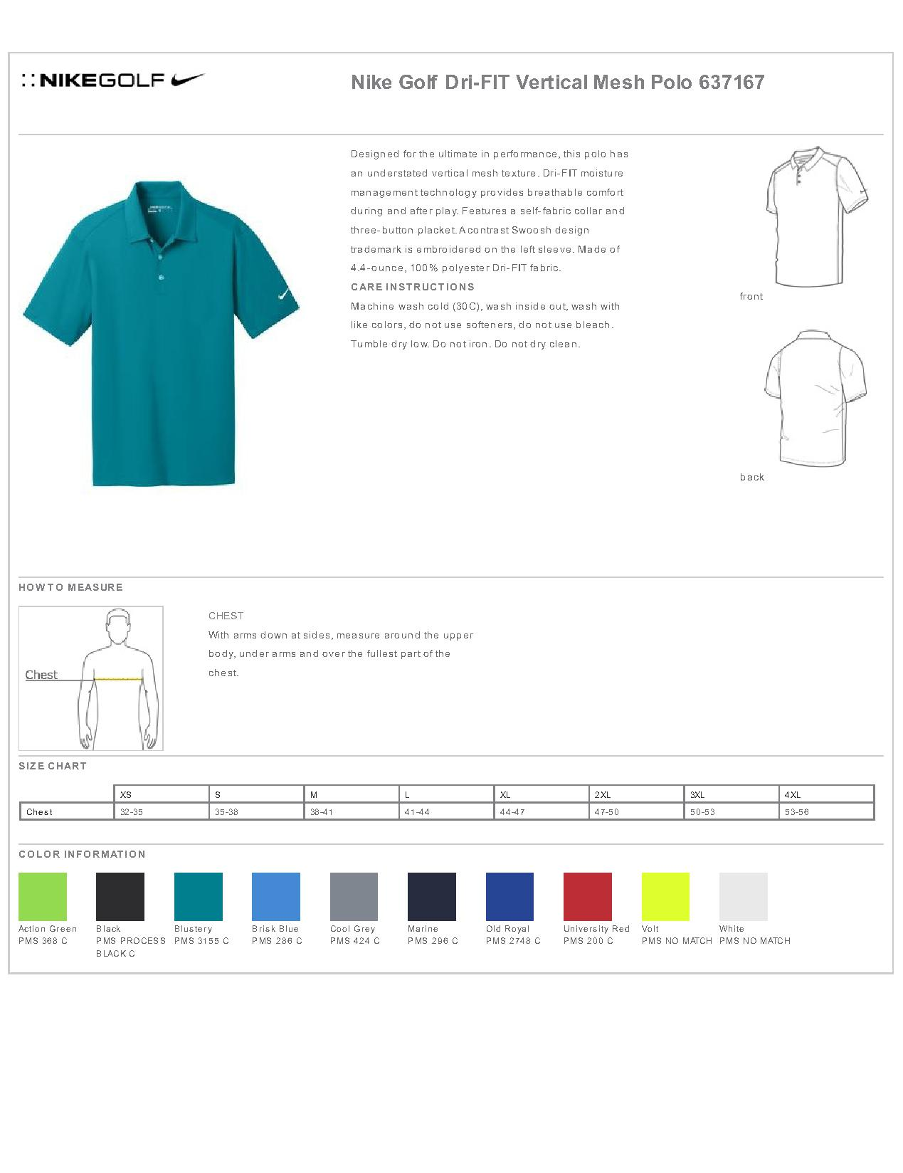 7d7688c6b0b4 Nike Golf 637167 - Dri-FIT Vertical Mesh Polo - Men s T-Shirts