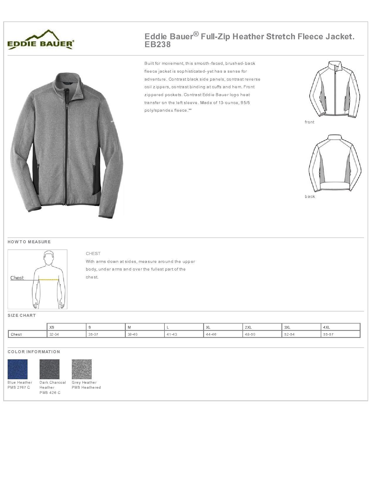 010d474034eb Eddie Bauer® EB238-Full-Zip Heather Stretch Fleece Jacket $49.66 ...