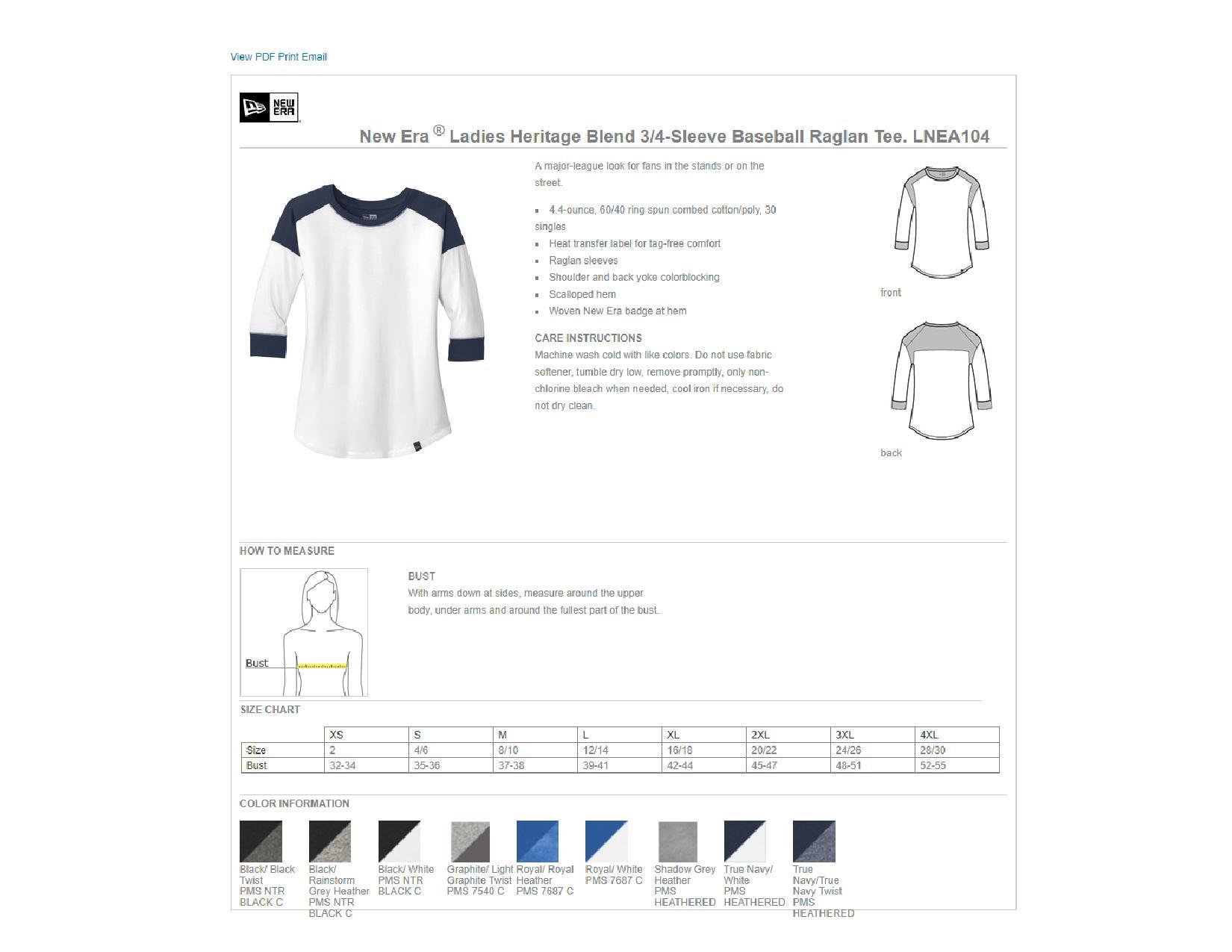 8f7dfaed0aa2 Popular Designs. custom design of New Era LNEA104 - Ladies Heritage Blend 3/4  Sleeve Baseball Raglan