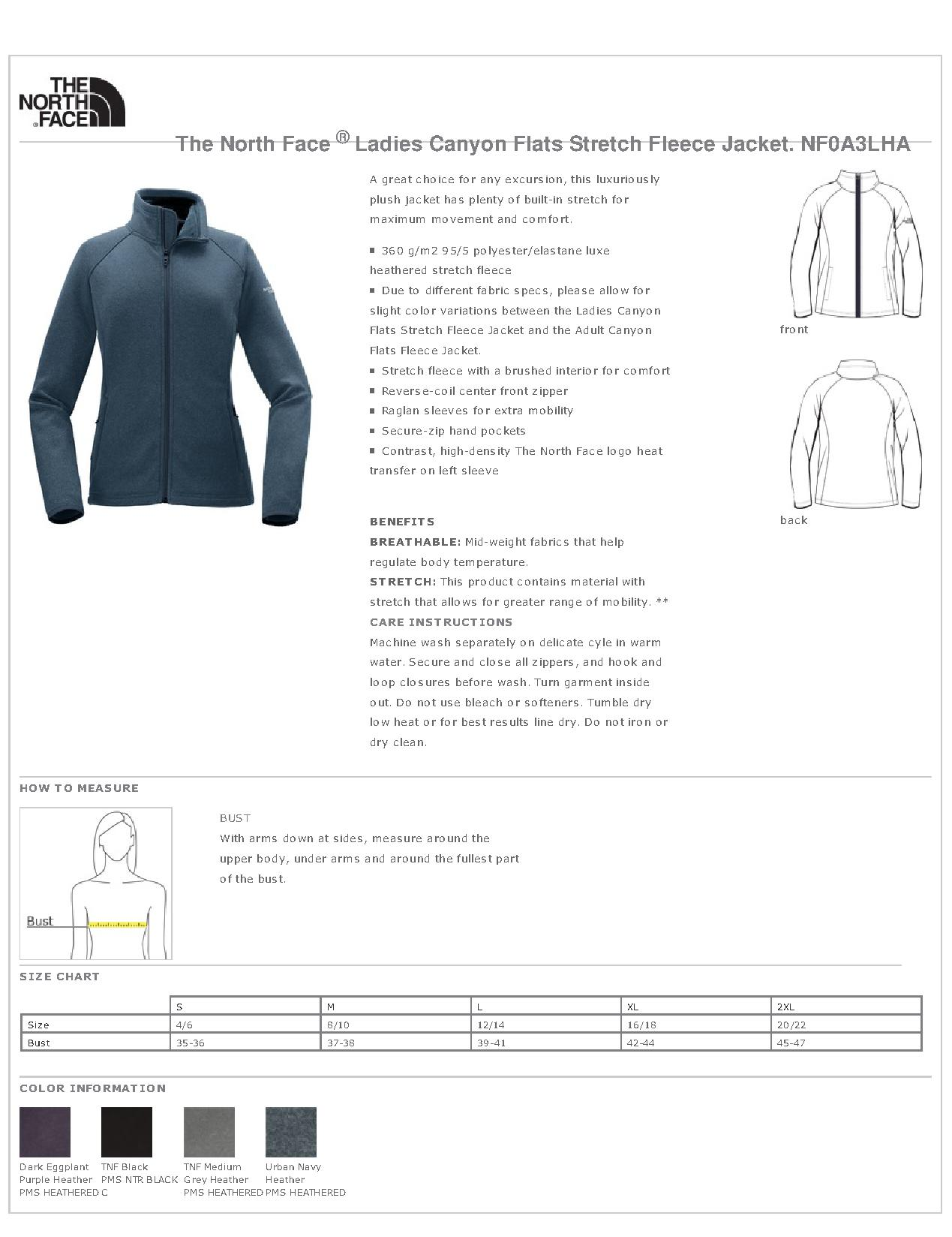 dd4398a90013 The North Face® NF0A3LHA - Ladies Canyon Flats Stretch Fleece Jacket ...