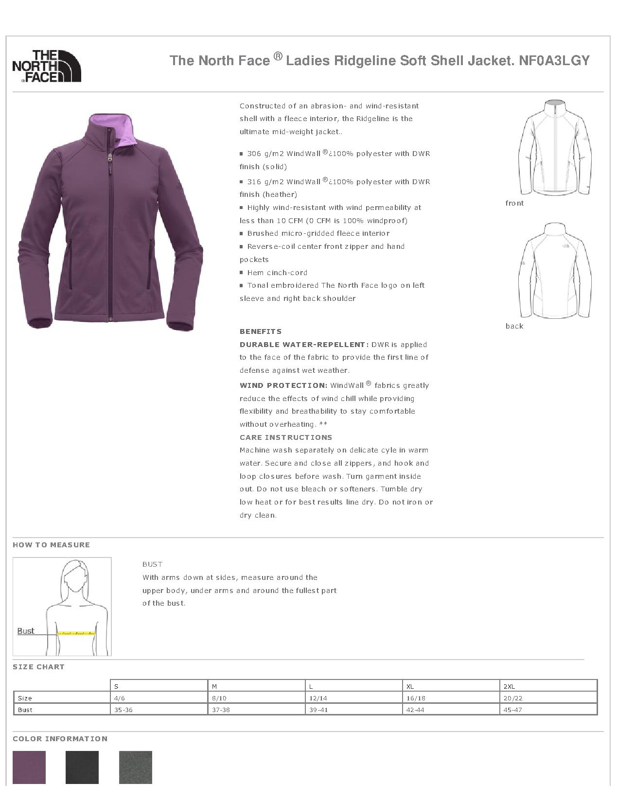 da1ba3880541 The North Face® NF0A3LGY - Ladies Ridgeline Soft Shell Jacket ...