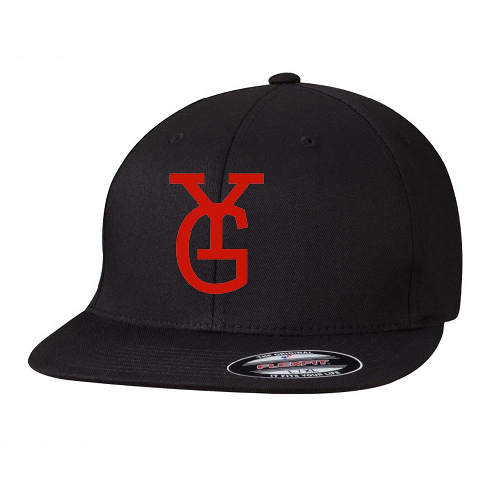 custom design of Flexfit 6297F - Adult Wooly Twill Pro Baseball On-Field Shape Cap w/Flat Bill