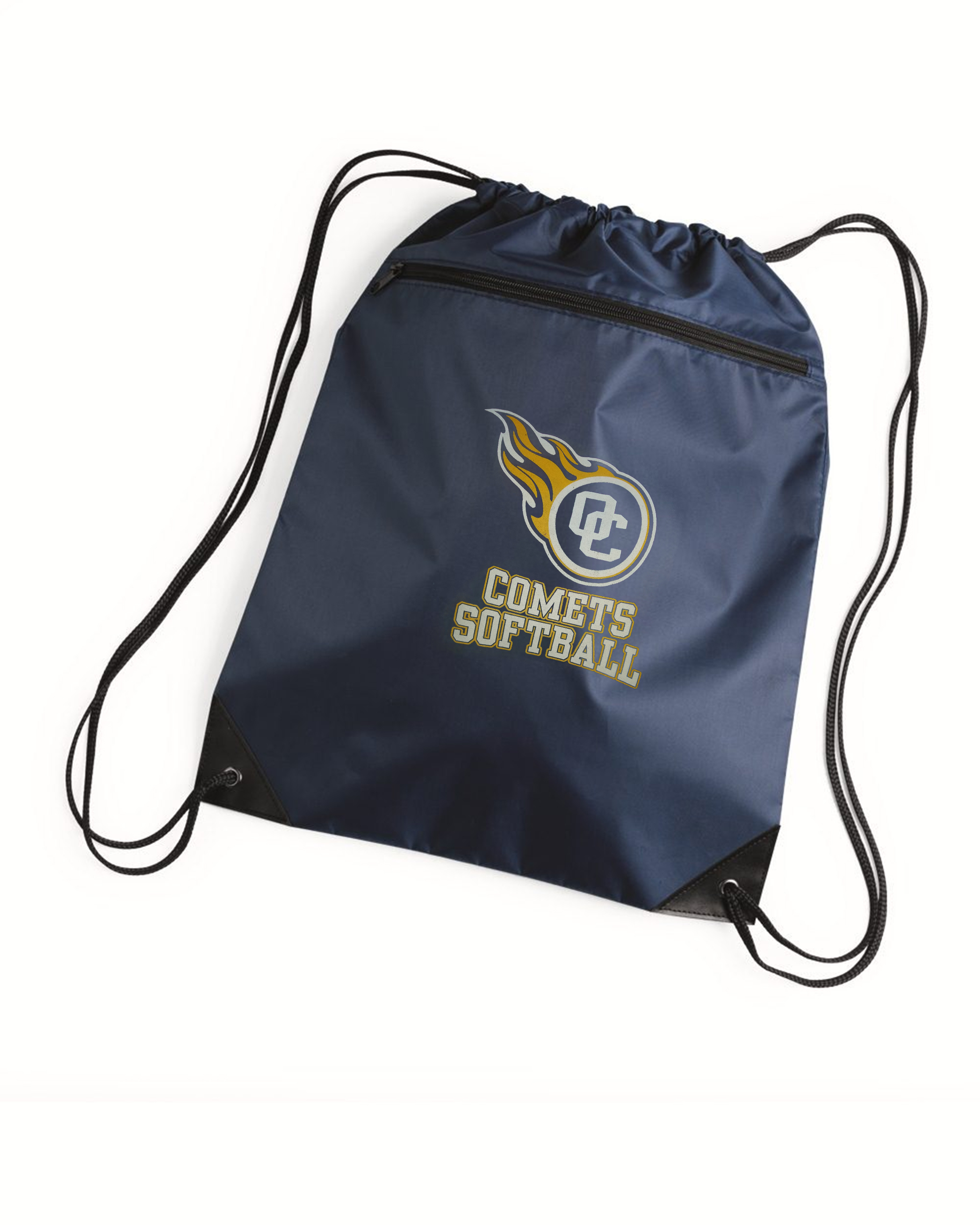 custom design of Liberty Bags 8888 - Denier Nylon Zippered Drawstring Backpack