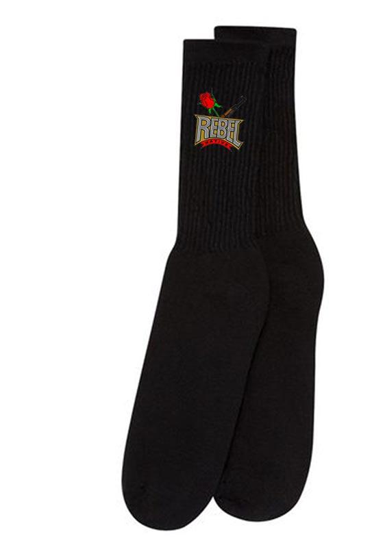 Gildan GL751-Mens Full Black Crew Socks