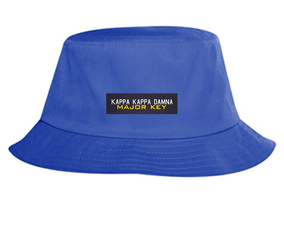 custom design of Promo cotton twill solid color six panel bucket hats