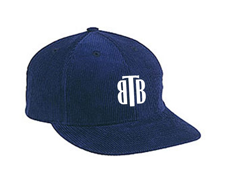 custom design of Corduroy solid color six panel low profile pro style cap