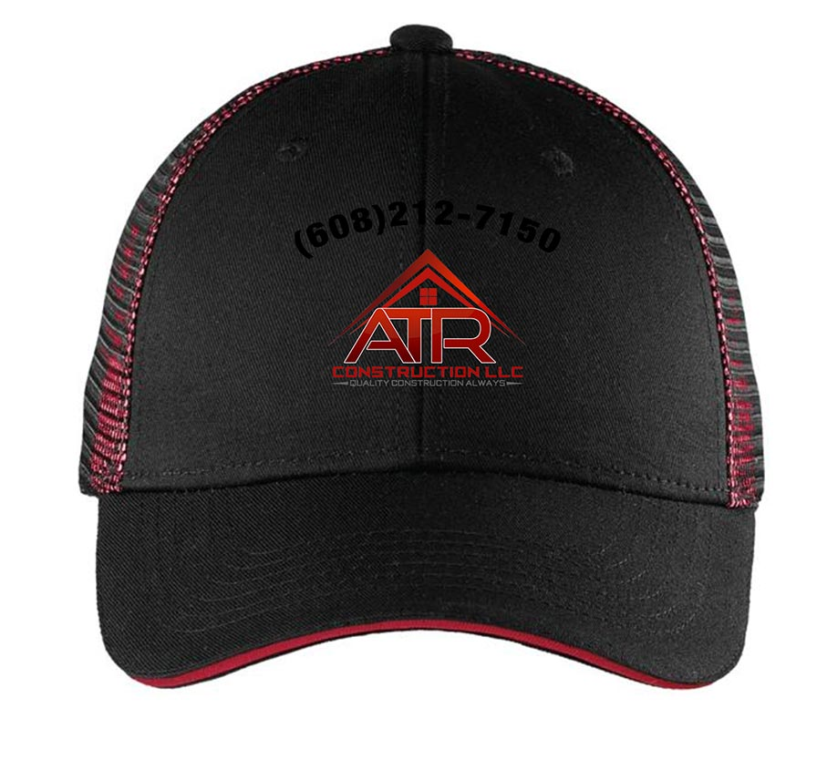 custom design of Port Authority® C818 Double Mesh Snapback Sandwich Bill Cap