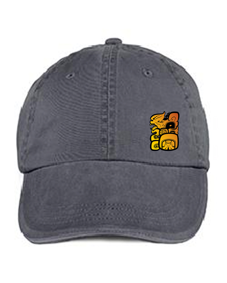 custom design of Anvil 166  6-Panel Pigment-Dyed Twill Sandwich Cap