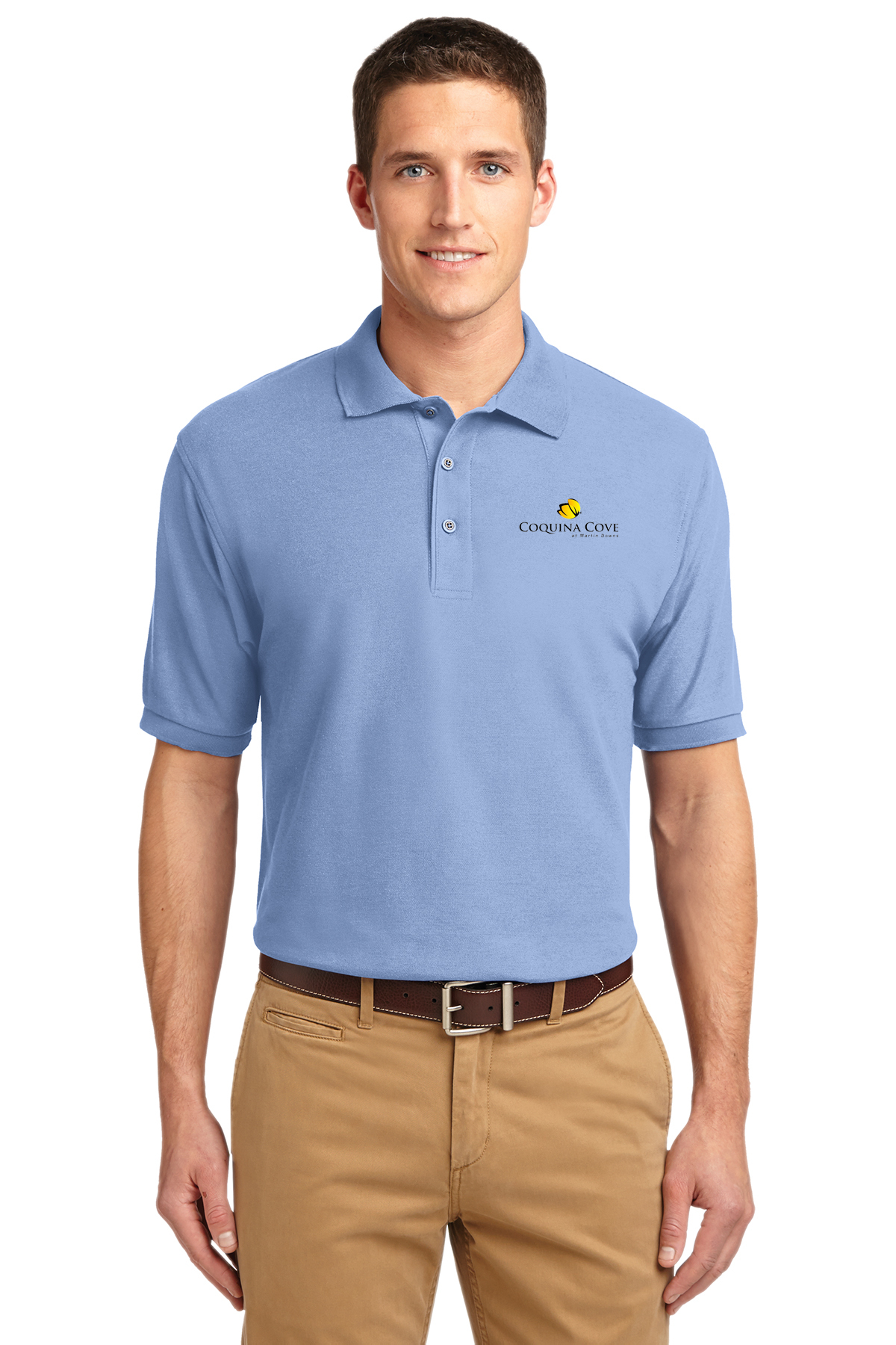 custom design of Port Authority® K500 Silk Touch™ Polo
