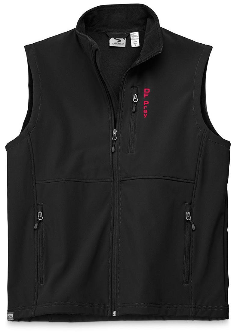 custom design of Storm Creek 4050 - Men's Mircofleece Lined Softshell Vest 'Dimitri'