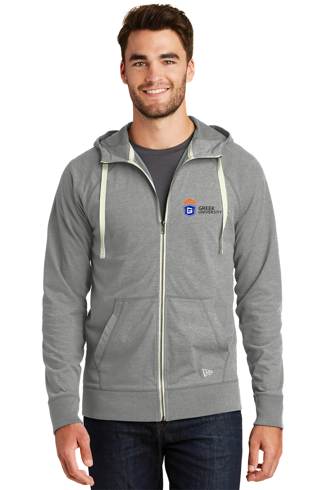 custom design of New Era NEA122 - Men's Sueded Cotton Full Zip Hoodie