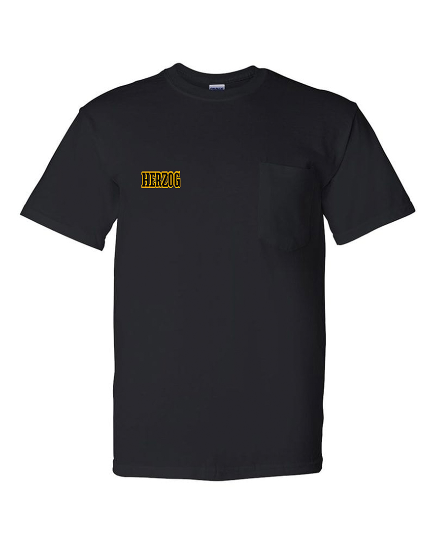 custom design of Anvil 911-Heavyweight T-Shirt with a pocket