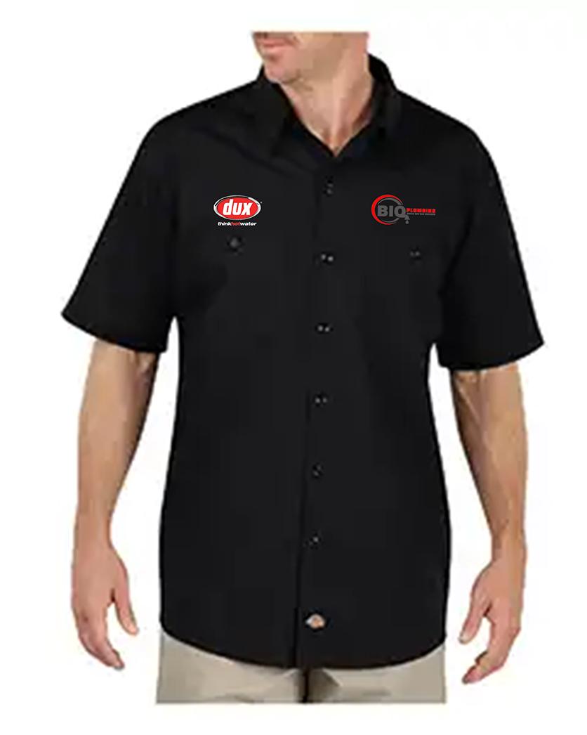 custom design of Dickies LS516 - 4.25 oz. WorkTech with AeroCool Mesh Premium Performance Work Shirt