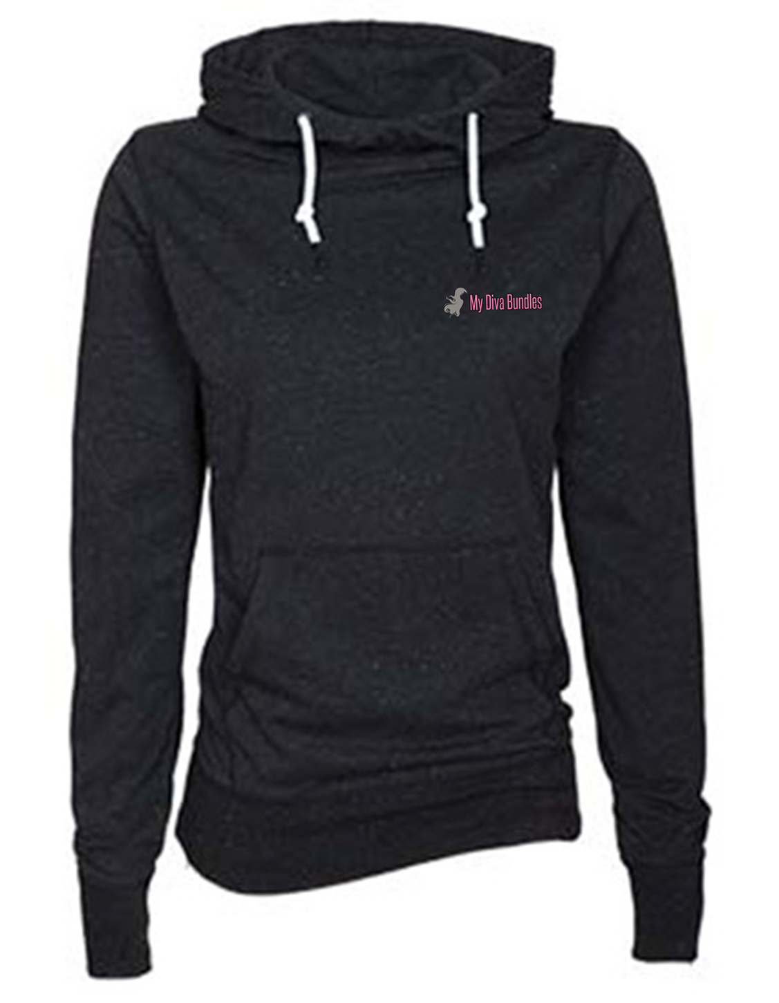 custom design of Enza 09179 - Ladies Long Sleeve Funnel Neck Hooded Tee