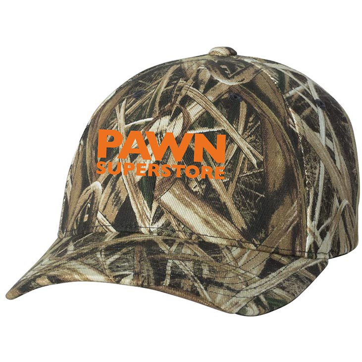 custom design of Flexfit 6999 Mossy Oak Camouflage Cap
