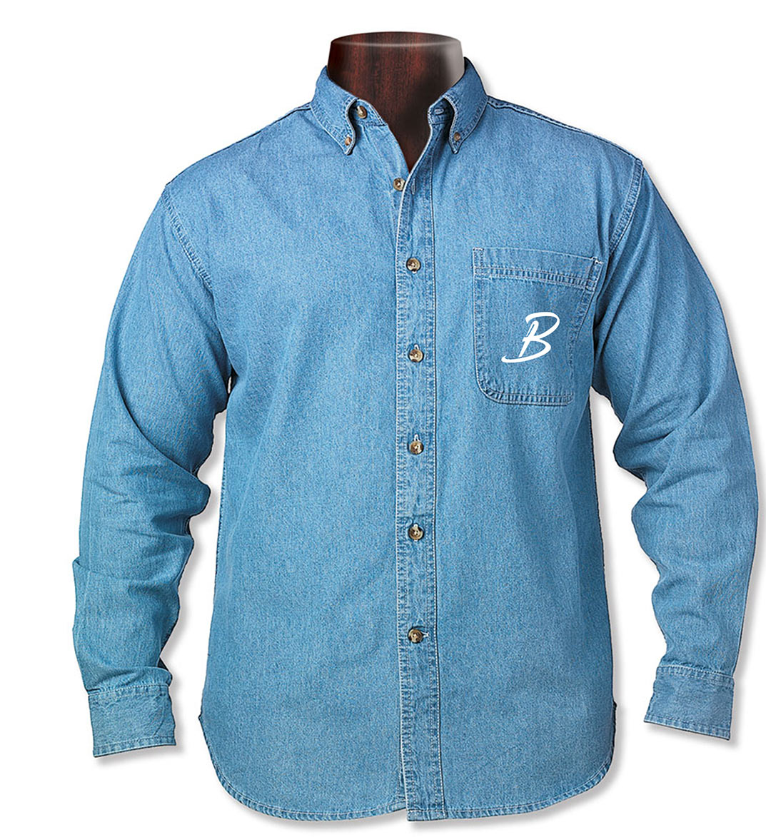 custom design of Sierra Pacific 7211 Long Sleeve Denim Tall Sizes