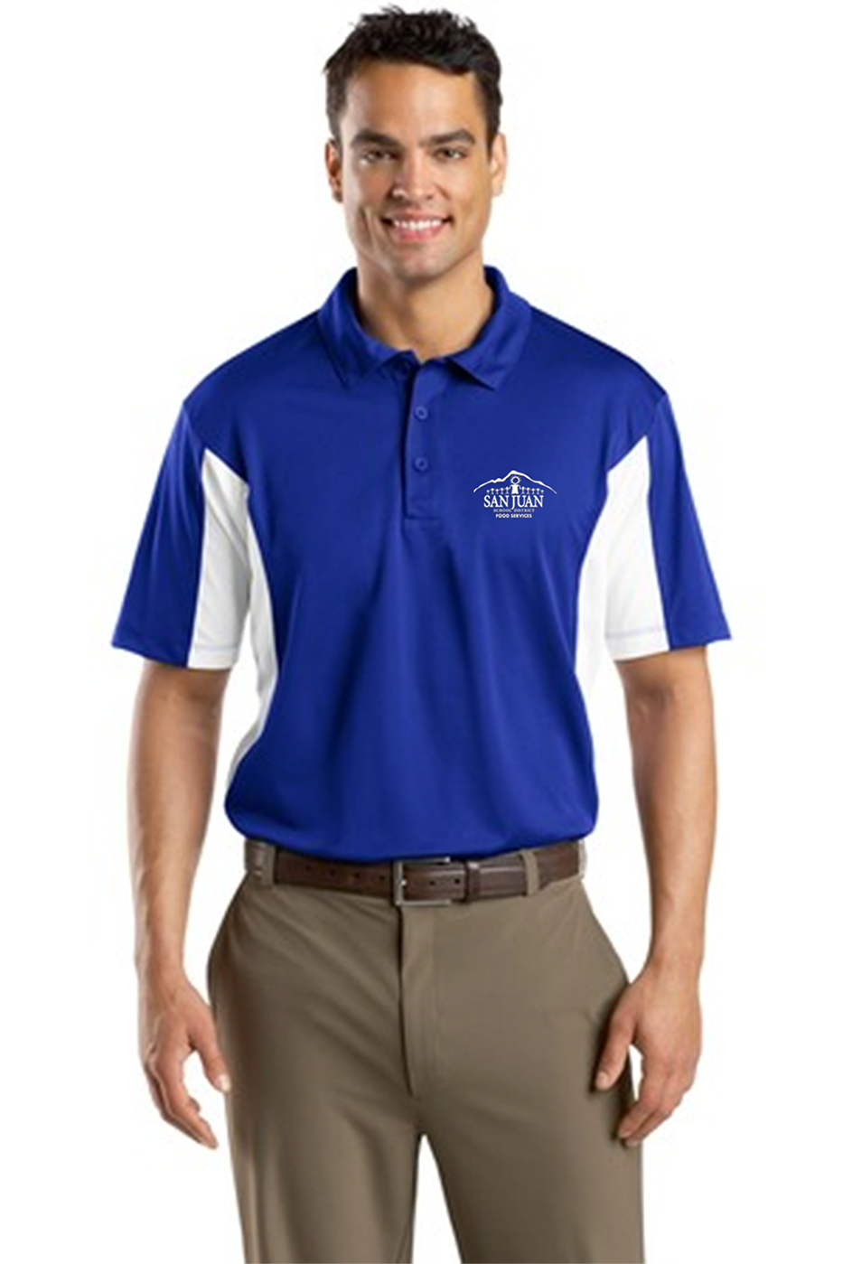 custom design of Sport-Tek® ST655 Side Blocked Micropique Sport-Wick® Polo