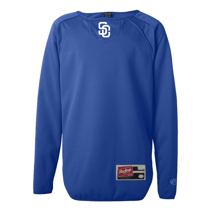 custom design of Rawlings 6705-Youth Long Sleeve Flatback Mesh Fleece Pullover