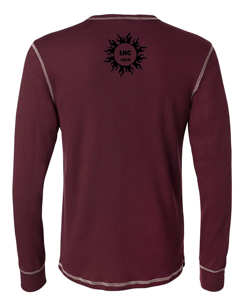 custom design of Canvas 3500 Long Sleeve Contrast Stitch Lombard Thermal T-Shirt