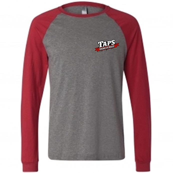 custom design of Canvas 3000 Long Sleeve Raglan Hawthorne Baseball T-Shirt
