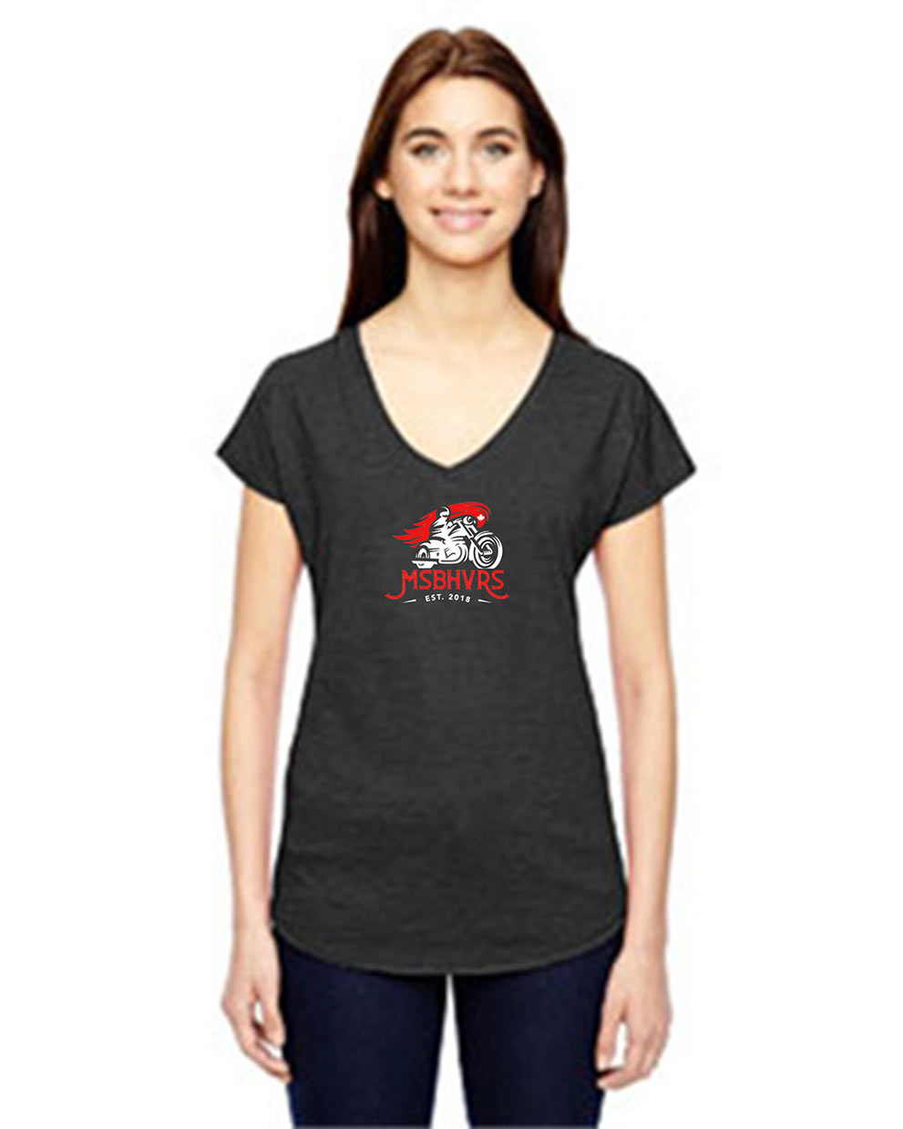 Anvil 6750VL - Ladies' Triblend V-Neck T-Shirt