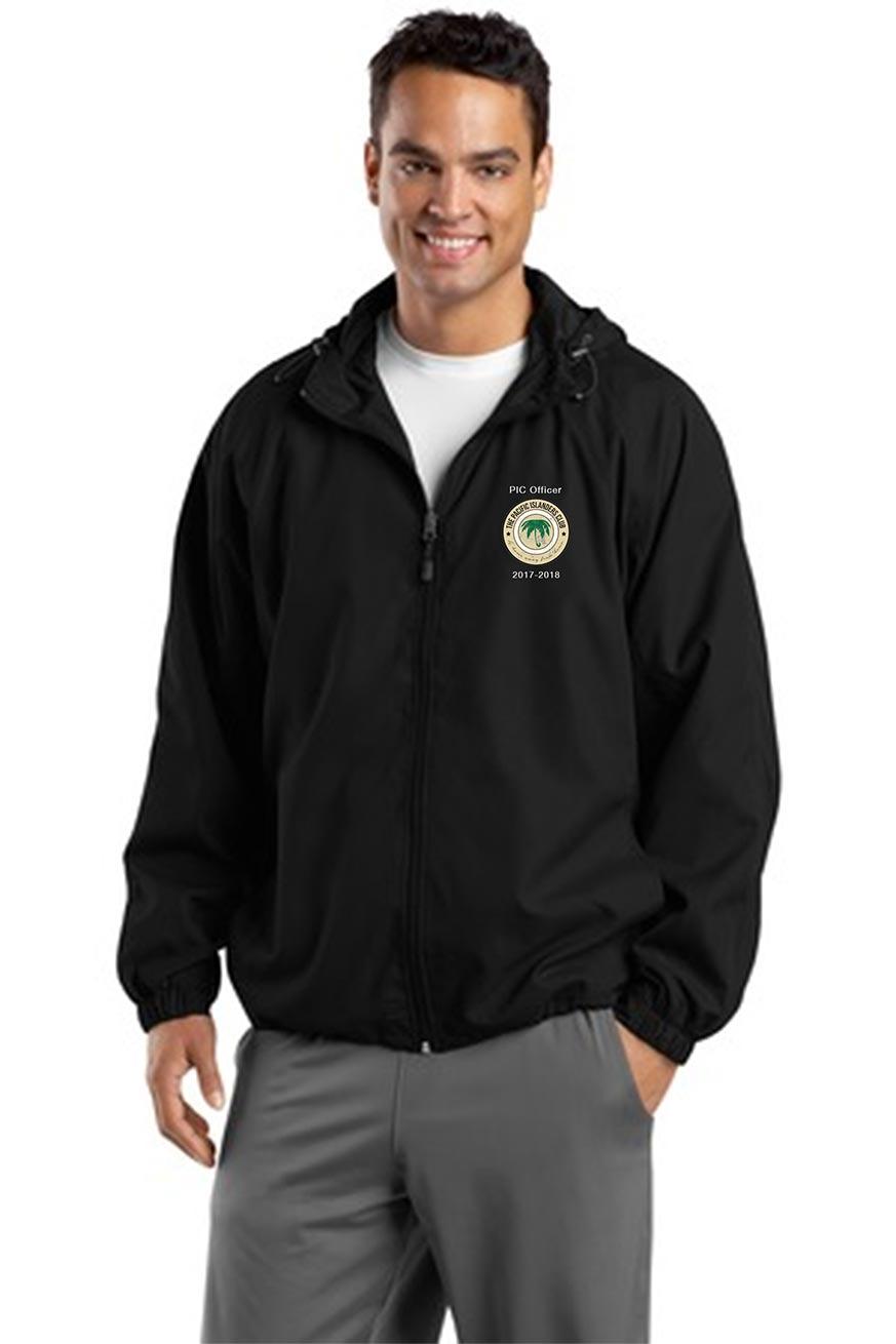 custom design of Sport-Tek® JST73 Hooded Raglan Jacket