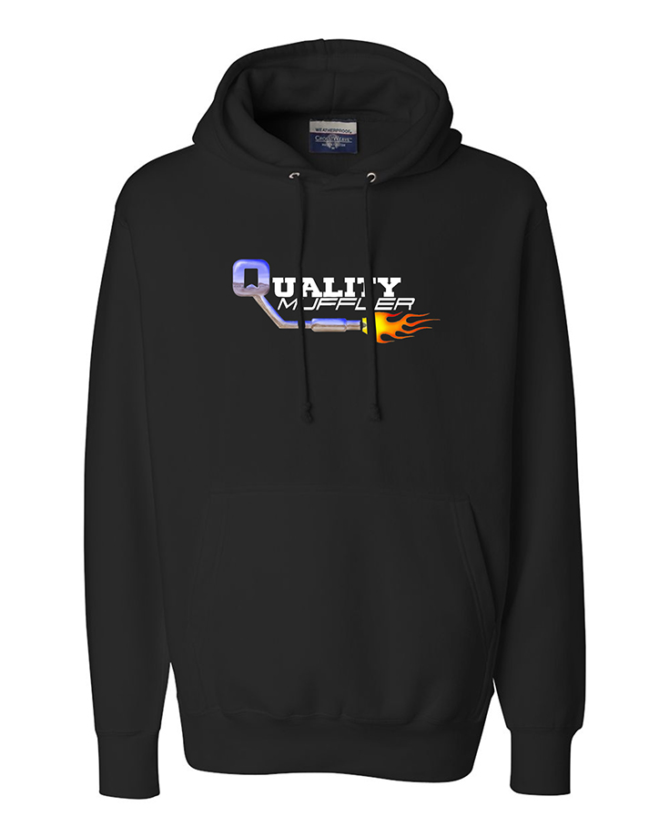 custom design of Weatherproof 7700 Cross Weave Hooded Sweatshirt